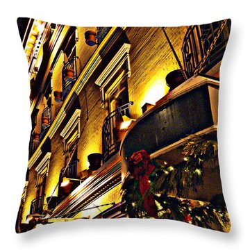 Throw Pillow featuring the photograph Swans Hotel by Marilyn Wilson