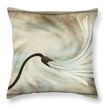 Sweeping Petals Throw Pillow by Kaye Menner
