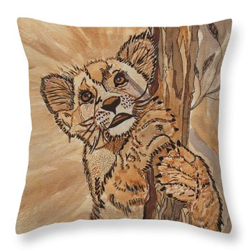 Sweet Baby Throw Pillow by Connie Valasco