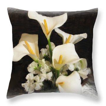 Sweet Calla Lilies Throw Pillow