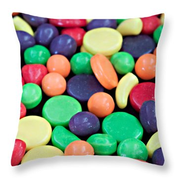 Throw Pillow featuring the photograph Sweet Candy Galore  by Sherry Hallemeier