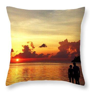 Sweet Golden Memory. Maldives Throw Pillow by Jenny Rainbow