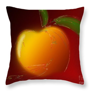 Sweet Peach 1 Throw Pillow by Andee Design