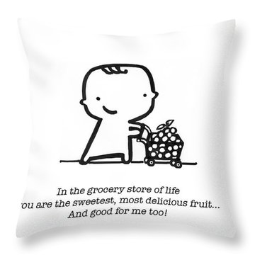 Sweetest Fruit Throw Pillow by Leanne Wilkes