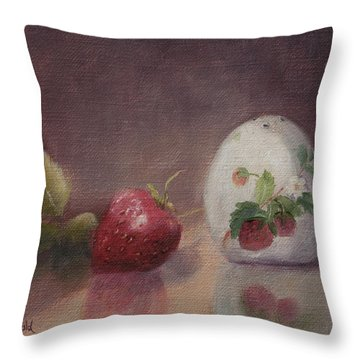 Sweetness Of Summer Throw Pillow by Debbie Lamey-MacDonald