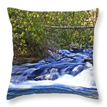 Throw Pillow featuring the photograph Swiftly Flowing River by Susan Leggett