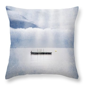 Swim Platform Throw Pillow by Joana Kruse