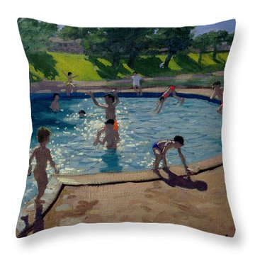 Swimming Pool Throw Pillow by Andrew Macara