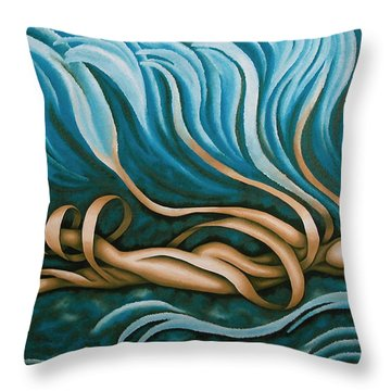 Swimmy Lady Throw Pillow