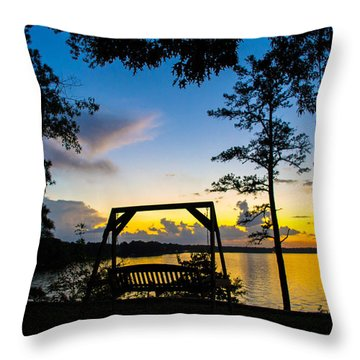 Swing Silhouette  Throw Pillow by Shannon Harrington
