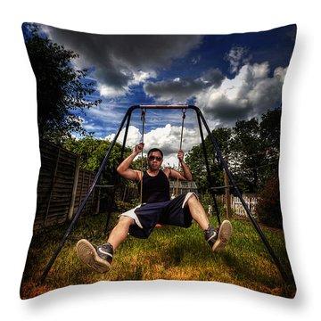 Swinger Throw Pillow by Yhun Suarez