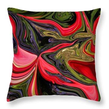 Swirled Garden 1 Throw Pillow by Renate Nadi Wesley