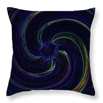 Swirlin Throw Pillow