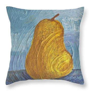 Swirling Pear Throw Pillow by Wayne Potrafka