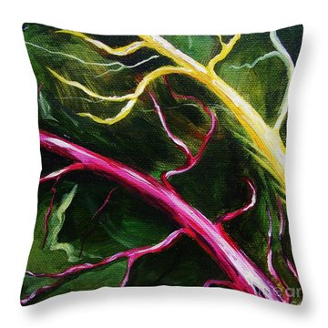 Swiss-chard Throw Pillow
