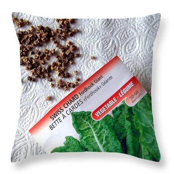 Swiss Chard Seeds Throw Pillow by Will Borden