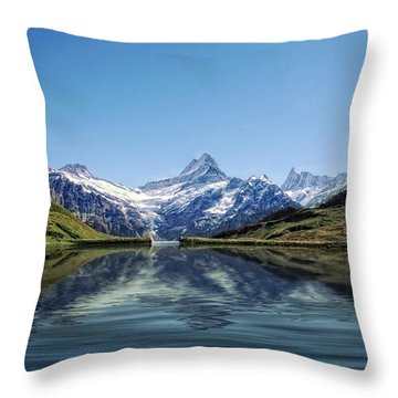 Swiss Primary Rocks Throw Pillow by Joachim G Pinkawa