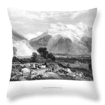 Switzerland: Grindenwald Throw Pillow by Granger