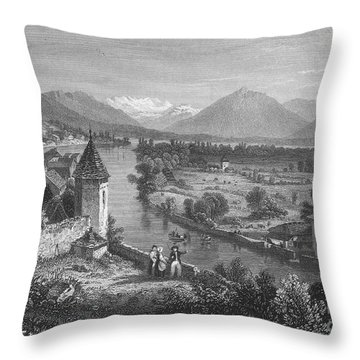 Switzerland: Thun, 1833 Throw Pillow by Granger