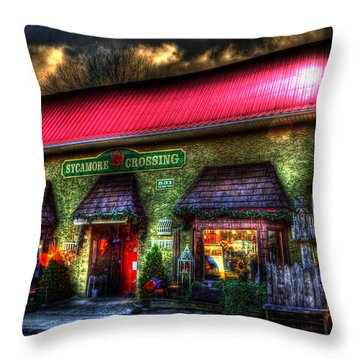Sycamore Crossing Throw Pillow
