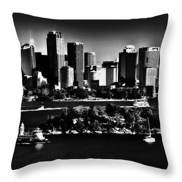 Sydney Harbour Monochrome Throw Pillow