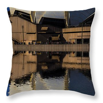 Sydney Opera House Abstract Throw Pillow by Avalon Fine Art Photography