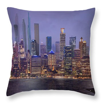 Sydney's Future Throw Pillow by Virginia Palomeque