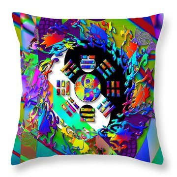Symagery 3 Throw Pillow