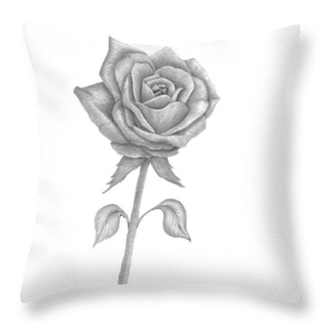 Throw Pillow featuring the drawing Symbol Of Love by Patricia Hiltz