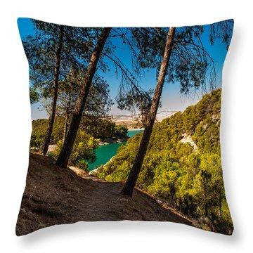 Symphony Of Nature. El Chorro. Spain Throw Pillow by Jenny Rainbow