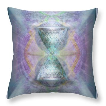 Synthesphered Grail On Caducus Blazed Tapestrys Throw Pillow