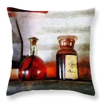 Syrup Of Rhubarb Throw Pillow by Susan Savad