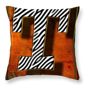 T Throw Pillow by Mauro Celotti