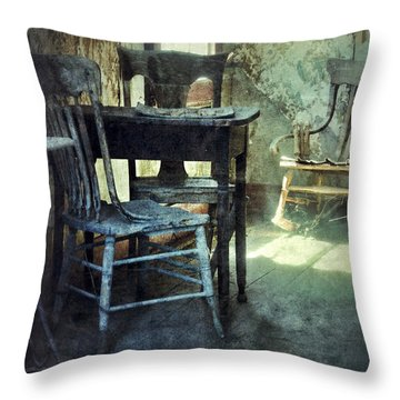 Table And Chairs Throw Pillow by Jill Battaglia
