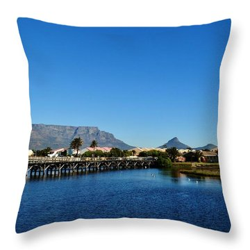 Throw Pillow featuring the photograph Table Mountain by Werner Lehmann
