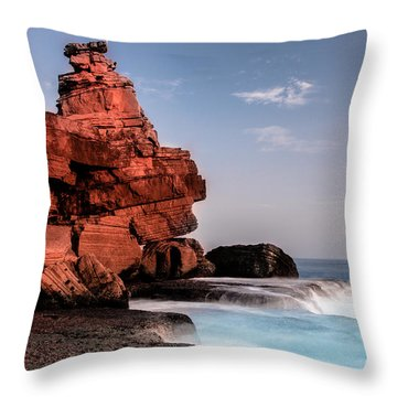Table Water Throw Pillow by Edgar Laureano
