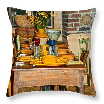 Tabletop Throw Pillow by Susan Leggett