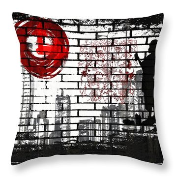 Tag Throw Pillow by Angelina Vick
