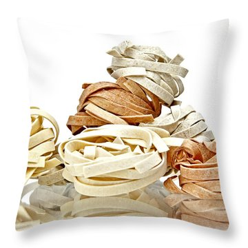 Tagliatelle Throw Pillow by Joana Kruse