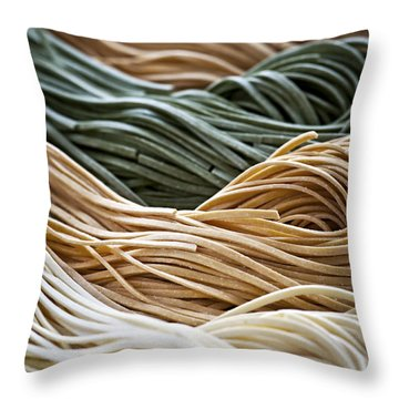 Tagliolini Pasta Throw Pillow