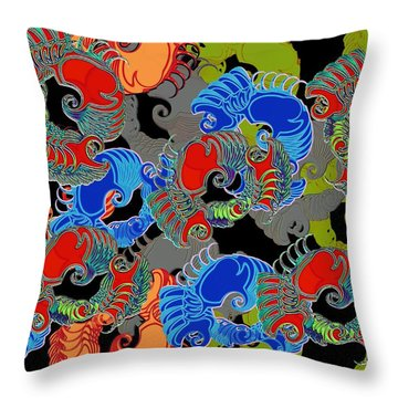 Tainted Shrimp Throw Pillow by Alec Drake