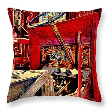 Take The Wheel Please Throw Pillow
