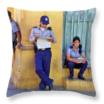 Taking A Break Throw Pillow by Lynn Bolt