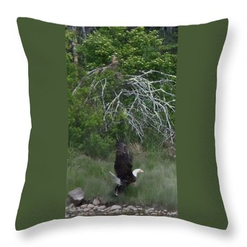 Taking Home The Catch Throw Pillow by Francine Frank