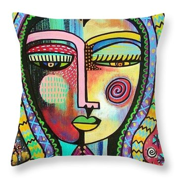 -talavera Virgin Of Guadalupe Protection Throw Pillow