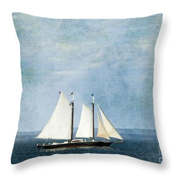 Throw Pillow featuring the photograph Tall Ship by Alana Ranney