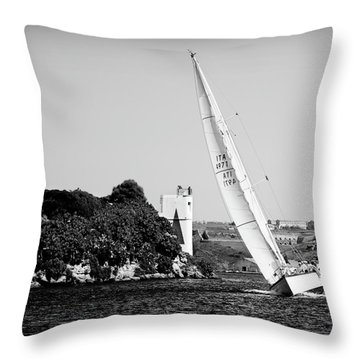 Throw Pillow featuring the photograph Tall Ship Race 1 by Pedro Cardona