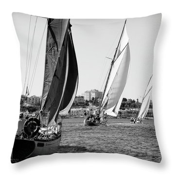 Throw Pillow featuring the photograph Tall Ship Races 2 by Pedro Cardona