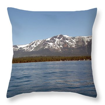 Tallac From The Lake Throw Pillow by LeeAnn McLaneGoetz McLaneGoetzStudioLLCcom