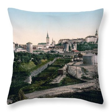 Tallinn Estonia - Formerly Reval Russia Ca 1900 Throw Pillow by International  Images